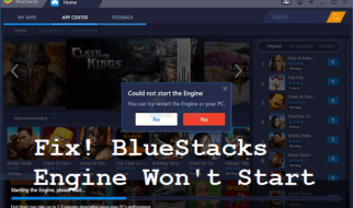 BlueStacks Engine Won't Start Fix