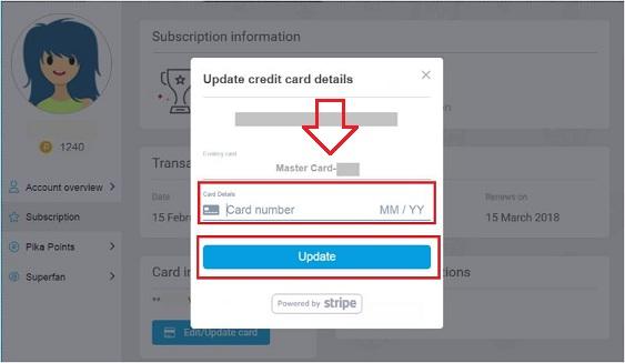 Update Credit Debit Card Details On BlueStacks