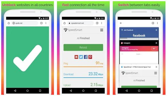 UPX Browser App Features