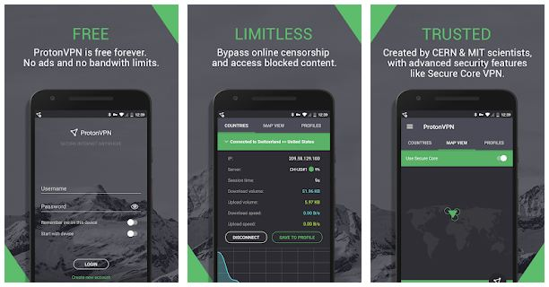 ProtonVPN App Features