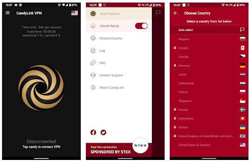 CandyLink VPN App Features