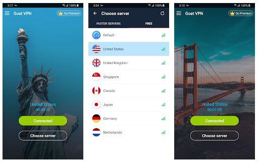 Goat VPN App Featuers