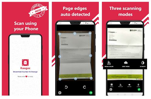 Kaagaz Scanner App Features