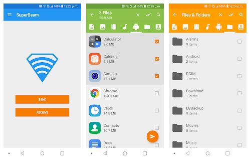 SuperBeam App Features
