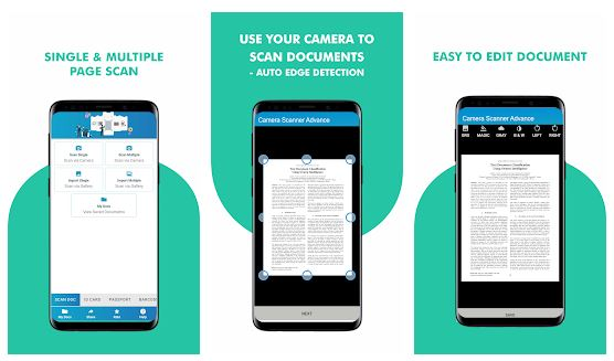 Camera Scanner Advance App Features