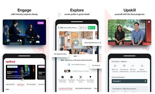 upGrad App Features