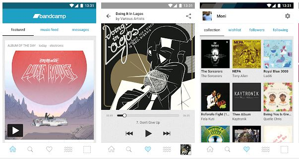 Bandcamp App Features