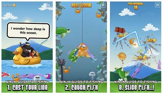 Ninja Fishing Game Features