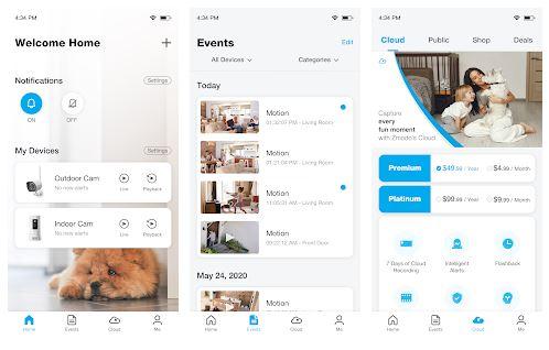 Zmodo App Features