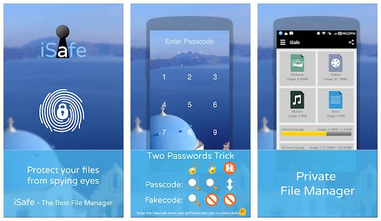 iSafe App Features